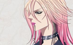 аниме, skip beat, крест, девушка, mogami, kyoko, skip, beat, розовые, волосы, шипы