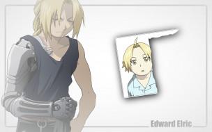 аниме, fullmetal alchemist, fullmetal, alchemist, портрет, блондин, парень, edward, elric