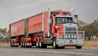 Kenworth tipper обои для рабочего стола 2048x1183 kenworth tipper, автомобили, kawei, тяжелый, грузовик, седельный, тягач