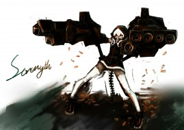 аниме, black rock shooter, koutari, yuu, for, the, flandre, арт, девушка, оружие