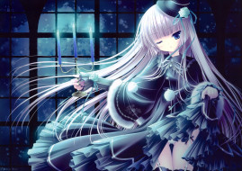 аниме, tinkle , artbook, платье, свечи, взгляд, девушка, арт, tinkle