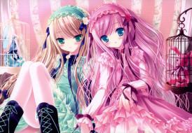 аниме, tinkle , artbook, арт, tinkle, игрушки, клетки, платья, девушки