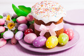 �����������, �����, ����, decoration, �����, cake, holiday, blessed, easter, spring, �������, tulips, eggs, ��������, �������