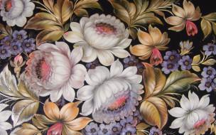 обои для рабочего стола 1920x1200 рисованное, цветы, живопись