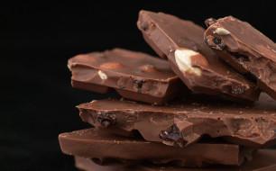 еда, конфеты,  шоколад,  сладости, изюм, орехи, макро