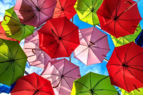 разное, сумки,  кошельки,  зонты, цветные, зонты, небо