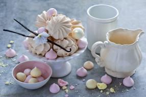 еда, конфеты,  шоколад,  сладости, зефир, сладость, цветок