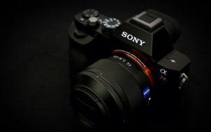 бренды, sony, камера, фотоаппарат, черный