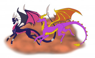 пара, фон, драконы