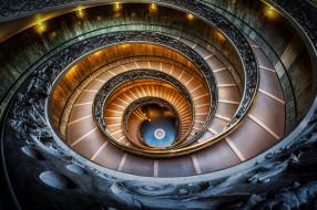 интерьер, дворцы,  музеи, италия, ватиканский, музей, лестница, спираль