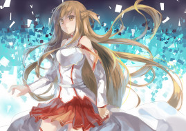 аниме, sword art online, арт, асуна, yuuki, asuna, xinta, sword, art, online