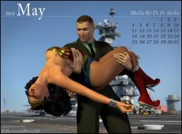календари, 3д-графика, мужчина, взгляд, фон, девушка