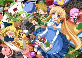 аниме, unknown,  другое, арт, eiyuu, игрушки, малыши, дети