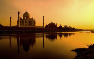 города, тадж-махал , индия, casstle, pradesh, agra, uttar, india, taj, mahal, тадж, махал, памятник, замок, храм