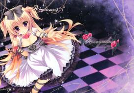 аниме, unknown,  другое, девочка, shiramori, yuse, розы, цветы, арт