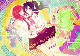аниме, love live,  school idol project, love, live, school, idol, project, nishikino, maki, yazawa, nico, yui22, арт