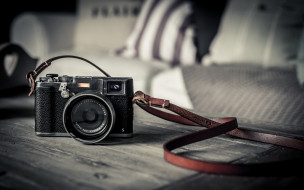бренды, fuji, столешница, ремень, камера, фотоаппарат