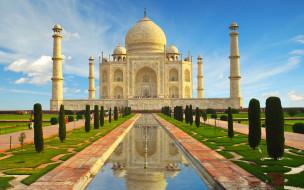 города, тадж-махал , индия, храм, casstle, pradesh, uttar, agra, тадж, махал, памятник, india, taj, mahal, замок