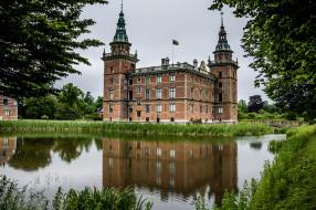marsvinsholms castle, города, замки швеции, пруд, парк, замок