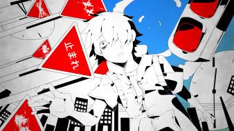 аниме, kagerou project, парень, арт, shizu, 9394marimo, vocaloid, здания, горд, kagerou, project, amamiya, hibiya