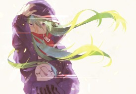 аниме, kagerou project, kagerou, project, капюшон, девушка, волосы, арт, tokigi, akira, kido, tsubomi
