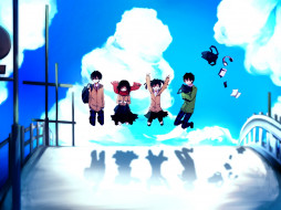 обои для рабочего стола 1920x1440 аниме, kagerou project, арт, tateyama, ayano, toto, 0morc0, kokonose, haruka, небо, enomoto, takane, kagerou, project, kisaragi, shintaro, школьники, облака