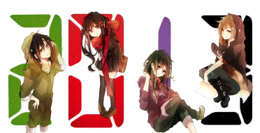 обои для рабочего стола 2114x1080 аниме, kagerou project, арт, felt, brave, tateyama, ayano, kano, shuuya, kagerou, project, seto, kousuke, kido, tsubomi, девушки, парень, цифры