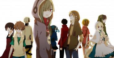 обои для рабочего стола 3000x1548 аниме, kagerou project, lemontea, парни, персонажи, арт, девушки