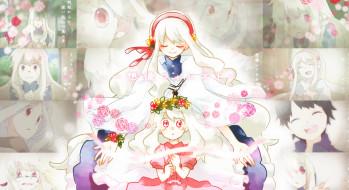 аниме, kagerou project, kagerou, project, kozakura, mary, vocaloid, цветы, девочки, wannyanpu, арт