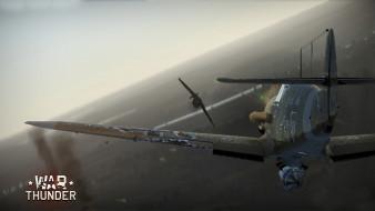 обои для рабочего стола 1920x1080 видео игры, war thunder,  world of planes, полет, самолет, фон