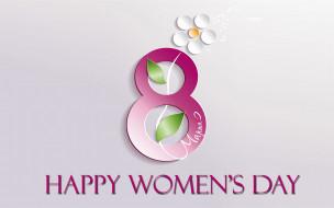 праздничные, международный женский день - 8 марта, цветок, фон, цифра