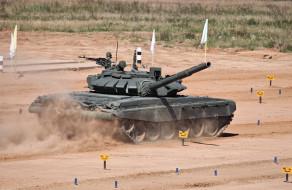обои для рабочего стола 2248x1465 техника, военная техника, военная, танк, т-72, б3, россия, испытания, поле