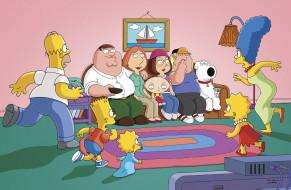 мультфильмы, the simpsons, family, guy, симпсоны, гриффины, homer, гомер, bart, барт, maggie, мэгги, lisa, лиза, marge, мардж, peter, питер, lois, лоис, stewie, стьюи, meg, мег, chris, крис