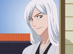 парень, взгляд, фон, ukitake jyuushirou
