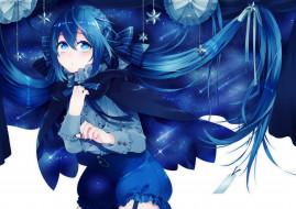 hazuki mizuho, синие волосы, арт, девушка