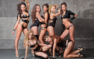�������, -unsort , ������ �������, ������, women, group, lingerie, pose, sexy