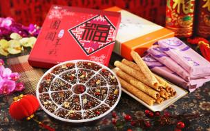 еда, конфеты,  шоколад,  сладости, сладости, орхидеи, confection, китайские