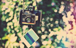 бренды, polaroid, снимок, камера, радуга, блики, фотоаппарат, полароид