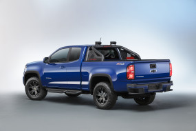 обои для рабочего стола 3000x2000 автомобили, chevrolet, colorado, 2016г, синий, extended, cab, trail, boss, z71