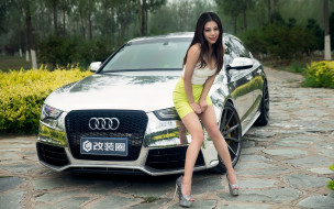 автомобили, -авто с девушками, автомобиль, девушка, взгляд, фон