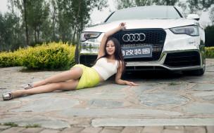 автомобили, -авто с девушками, автомобиль, фон, девушка, взгляд
