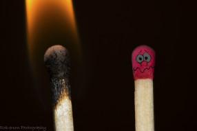страх, огонь, спички