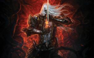 видео игры, castlevania,  lords of shadow 2, взгляд, мужчина, меч, lords, of, shadow, mirror, fate