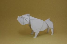 фон, собака, оригами