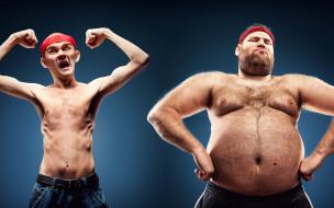 fat, ectomorphic constitution, poses, skinny