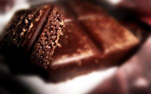 еда, конфеты,  шоколад,  сладости, плитка, пористый, куски, шоколад