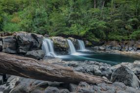 обои для рабочего стола 2048x1365 природа, водопады, река, лес, водопад