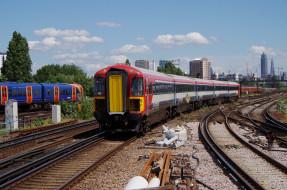 обои для рабочего стола 2048x1356 техника, поезда, состав, локомотив, рельсы, дорога, железная