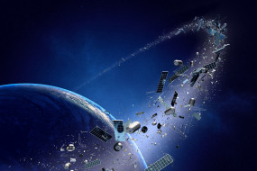 space junk, planet, metal, technology