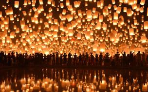 ������, - ������, loi, krathong, festival, thailand, ����, floating, lanterns, ��������, ��������